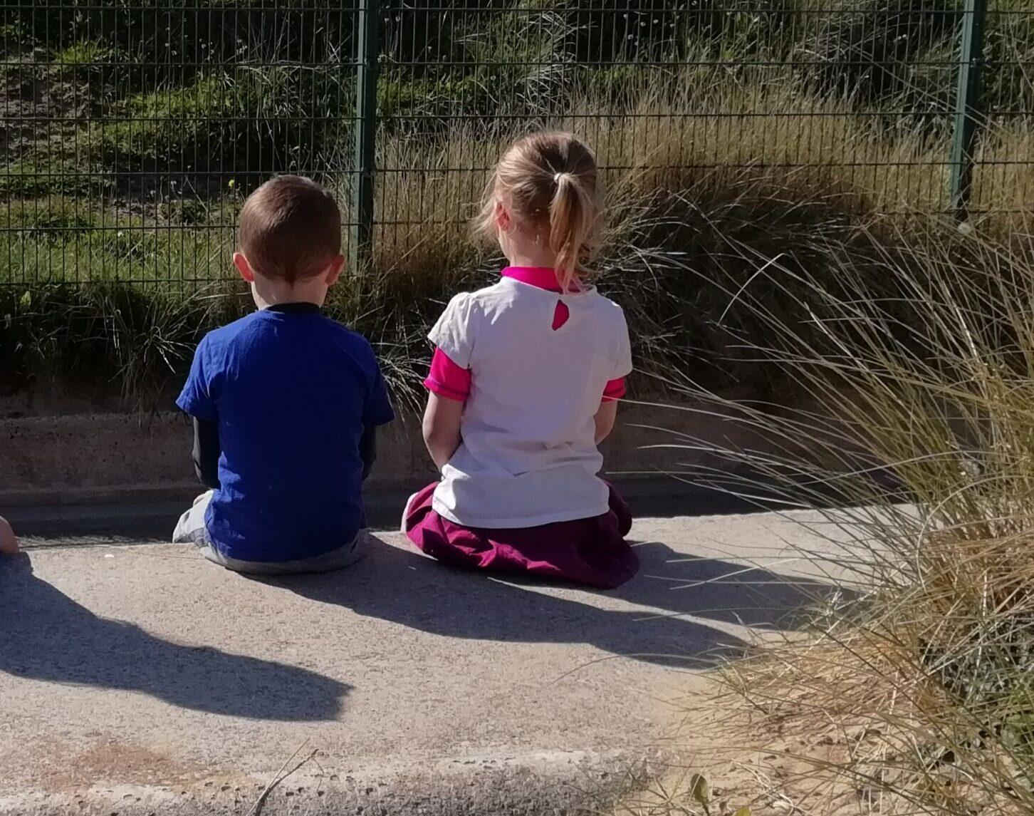 Boy and girl at beach